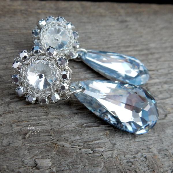 Ślubne kolczyki z kryształami Swarovskiego