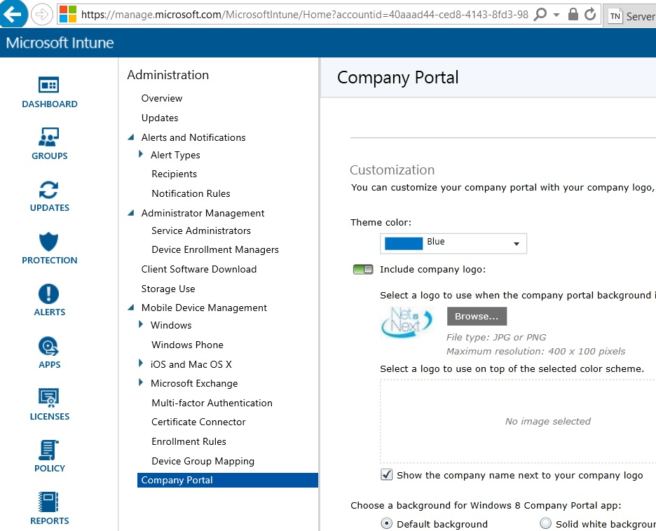 Configure Intune Standalone to Manage iOS Devices | NETvNext