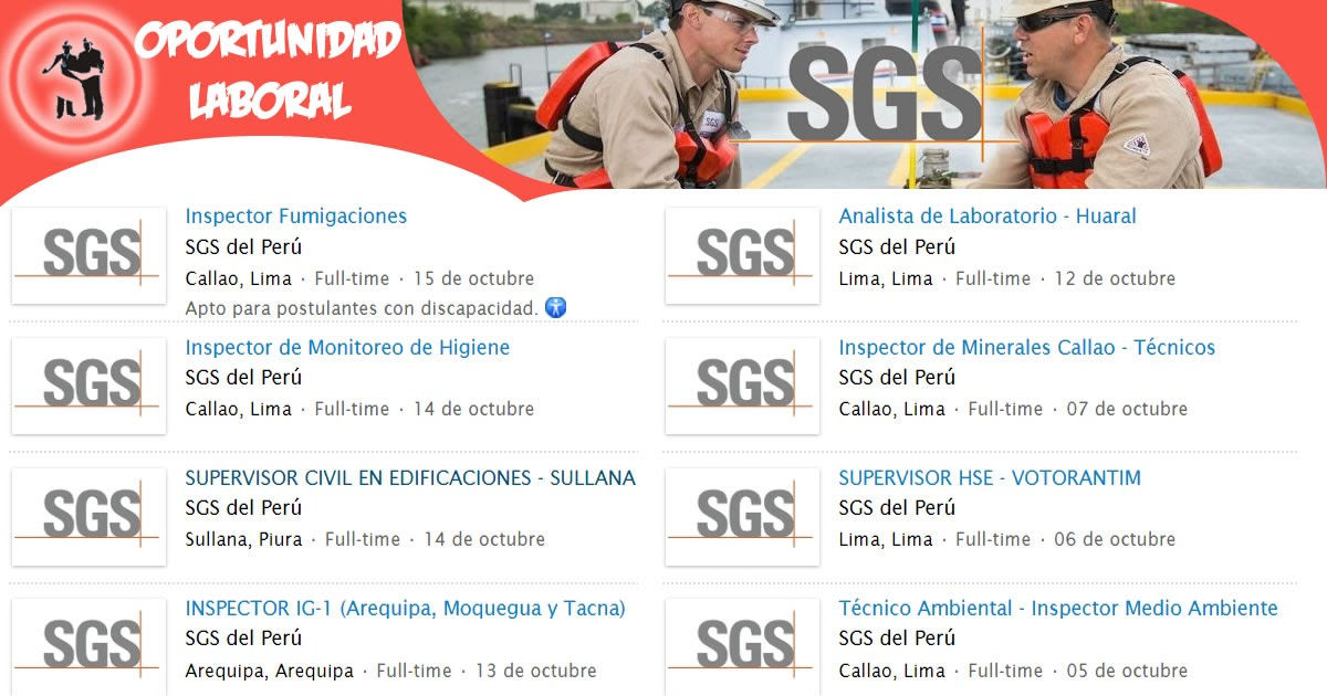 Sgs del per busco trabajo for Lindley trabajo