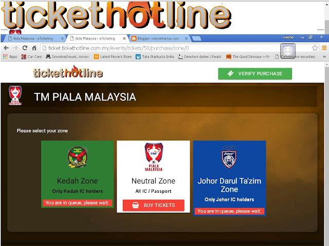 Tiket Final Piala Malaysia - Kedah vs JDT