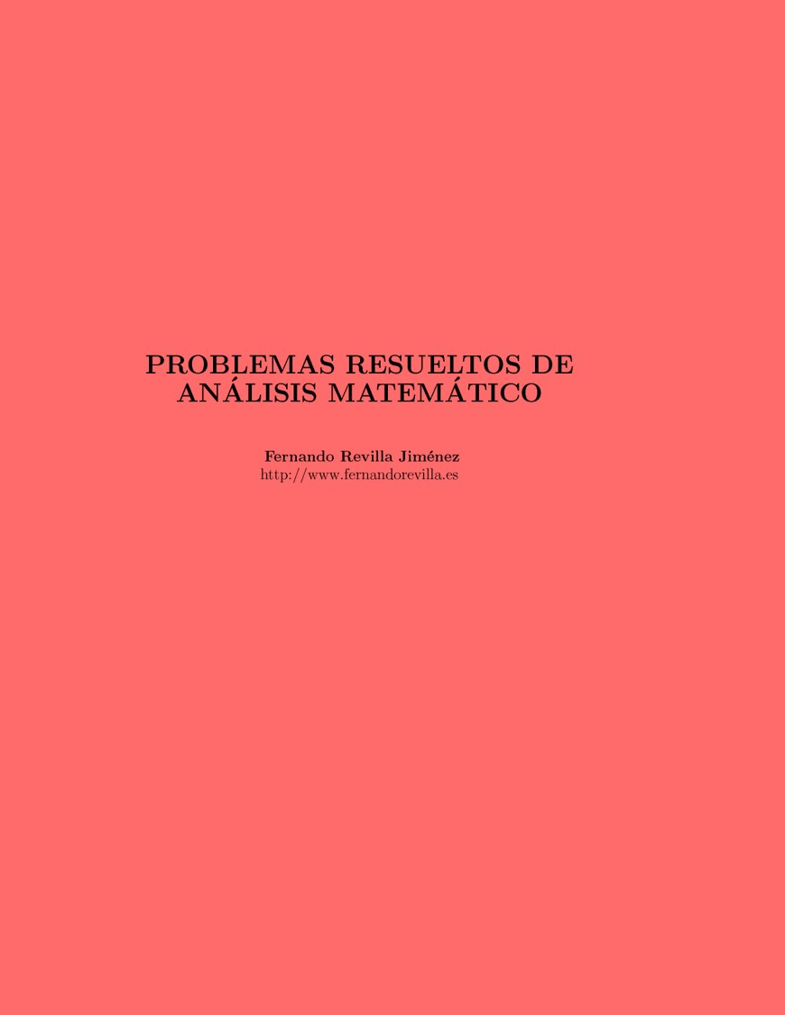 Problemas resueltos de Análisis Matemático
