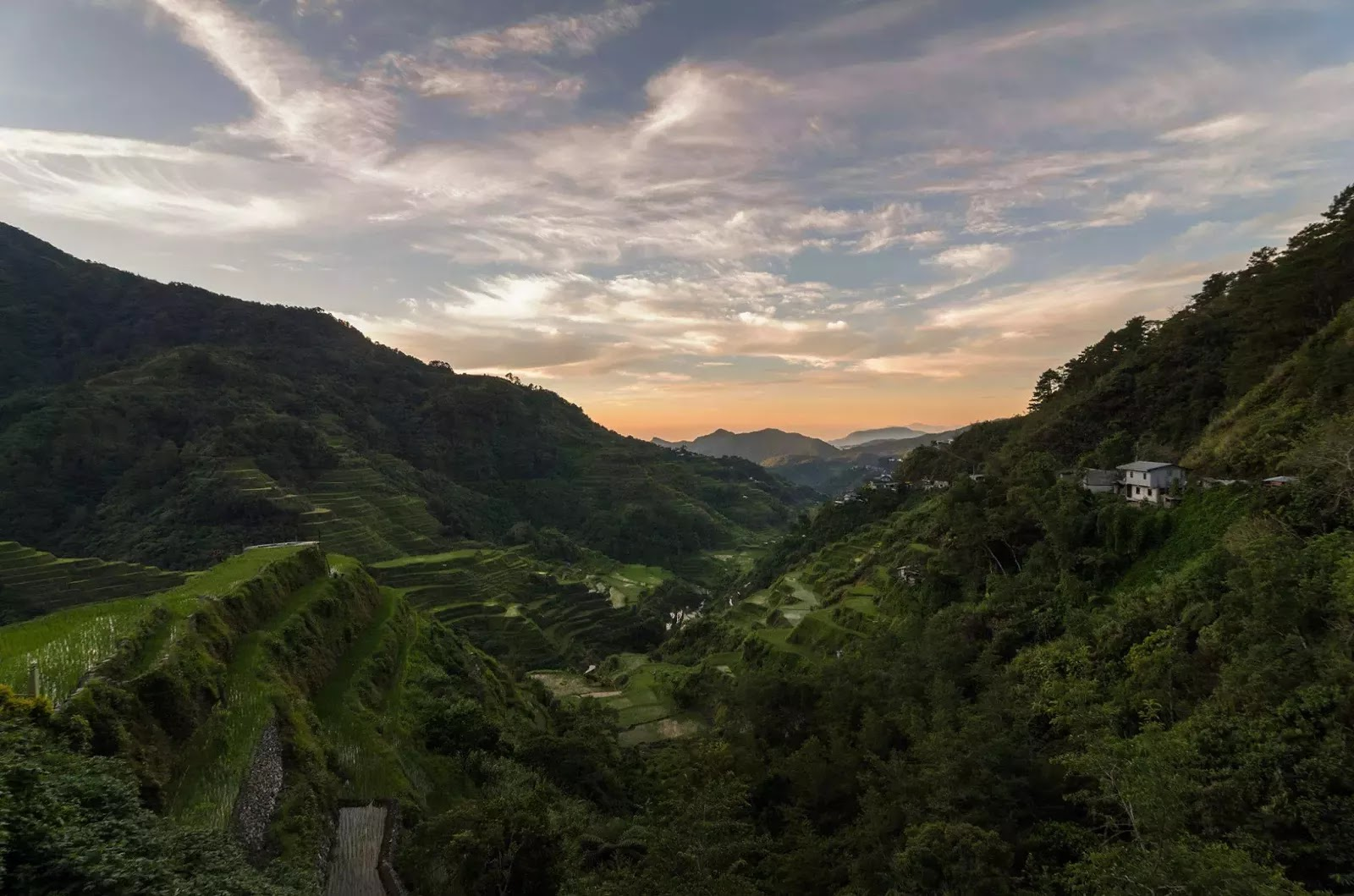 Banaue Rice Terraces NFA - Aguian View Deck Dawn Ifugao Cordillera Administrative Region Philippines