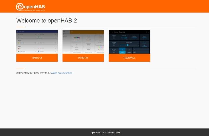 Пользовательские интерфейсы openHAB
