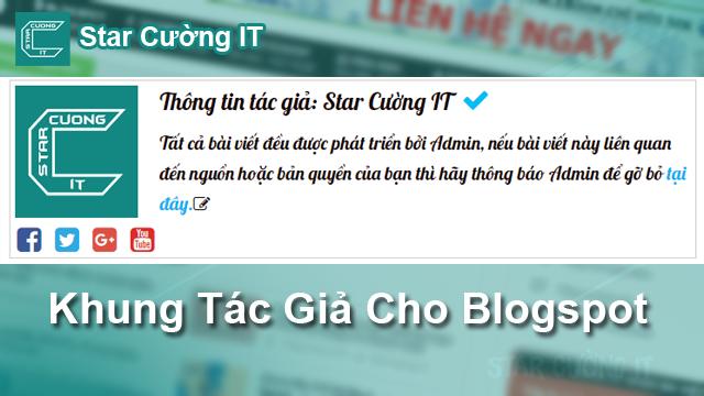 Cách tạo khung tác giả/ Author tuyệt đẹp cho Blogspot Tuyệt Đẹp