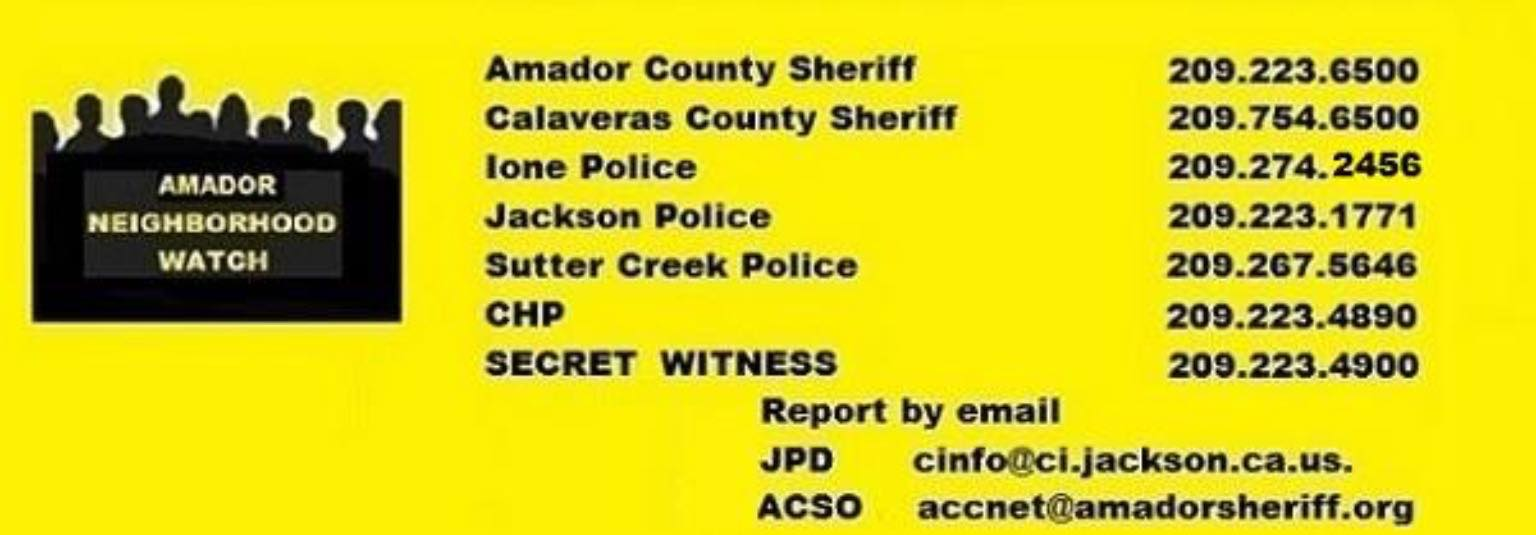 Amador Neighborhood Watch Facebook Group