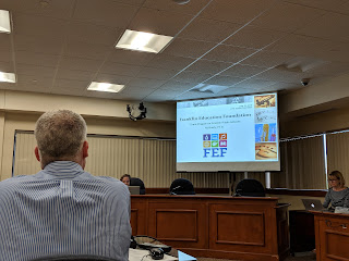 Kit Brady presenting on the FEF activities and funding