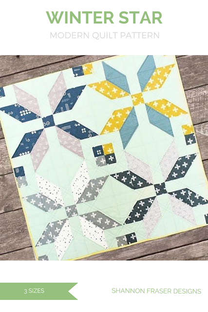Modern Star Quilt | Scandinavian Style | Winter Star Quilt Pattern | Shannon Fraser Designs | Baby Quilt | Throw Quilt | Double Quilt