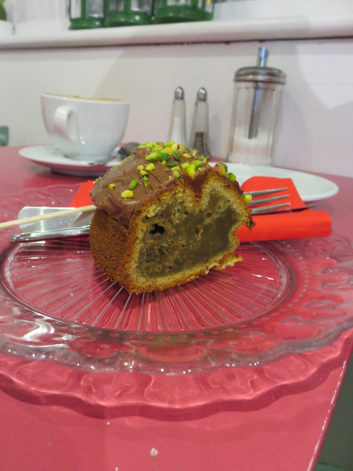 Pistachio Cake at Sweet Sicily in Dublin