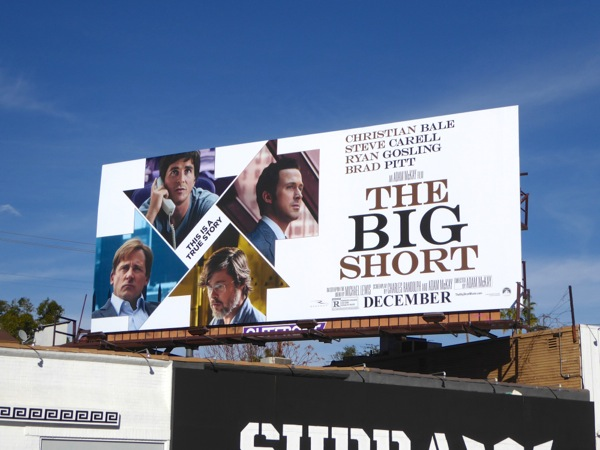 The Big Short movie billboard