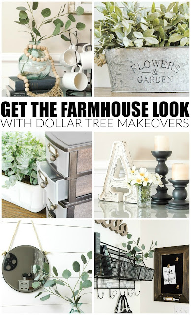 The best farmhouse Dollar Tree makeovers