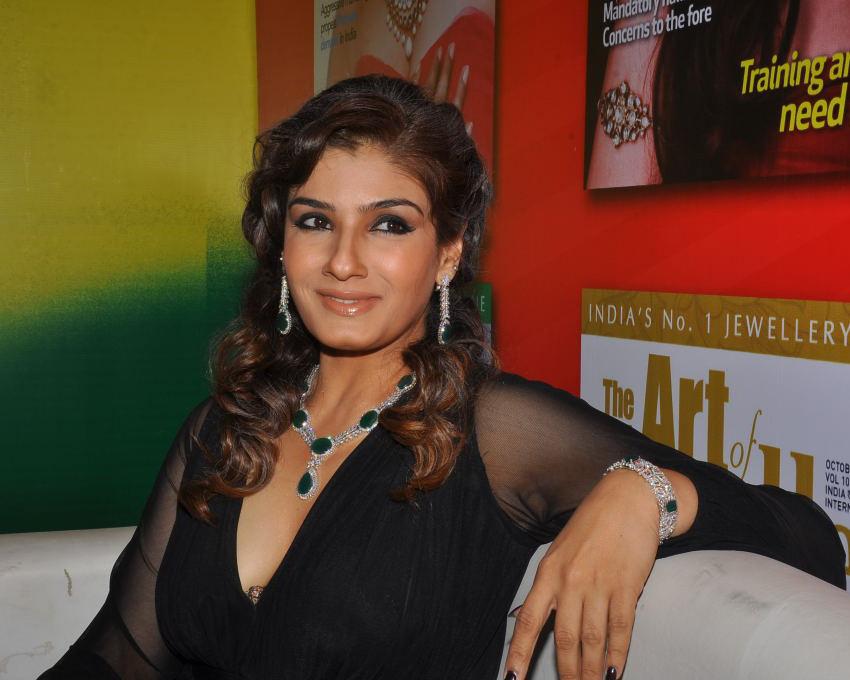 Raveena Tandon Hot Show In Public Event