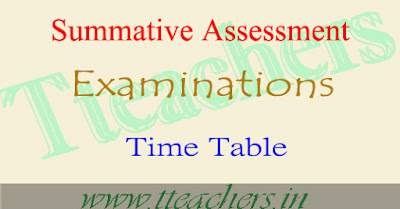 TS SA2 Time Table 2018-2019 Summative Assessment exam dates