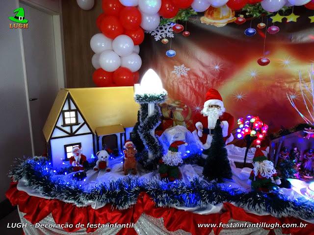 Decoração Papai Noel (Natal) para festa infantil