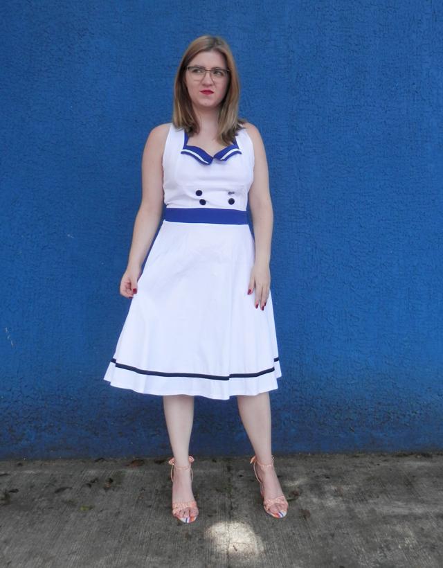Look: Vestido estilo marinheiro