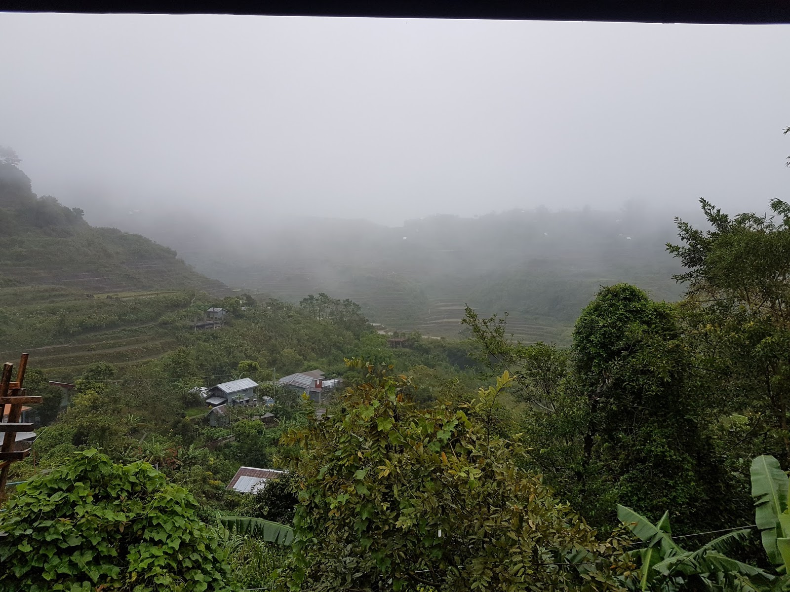 Overlooking the Maligcong Rice Terraces Porch of Ate Suzette's Homestay