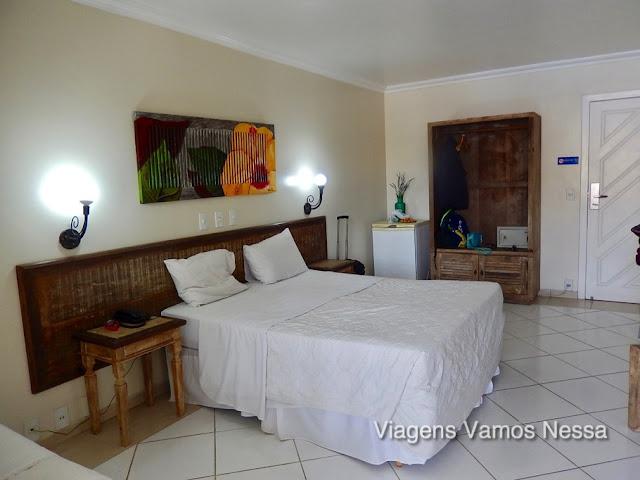 Quartos amplos e confortáveis do Hotel Don Quijote em Búzios, RJ