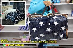 Selimut Rossinni Black Star 180×200 Cm Pattern Biru Polyester Blanket