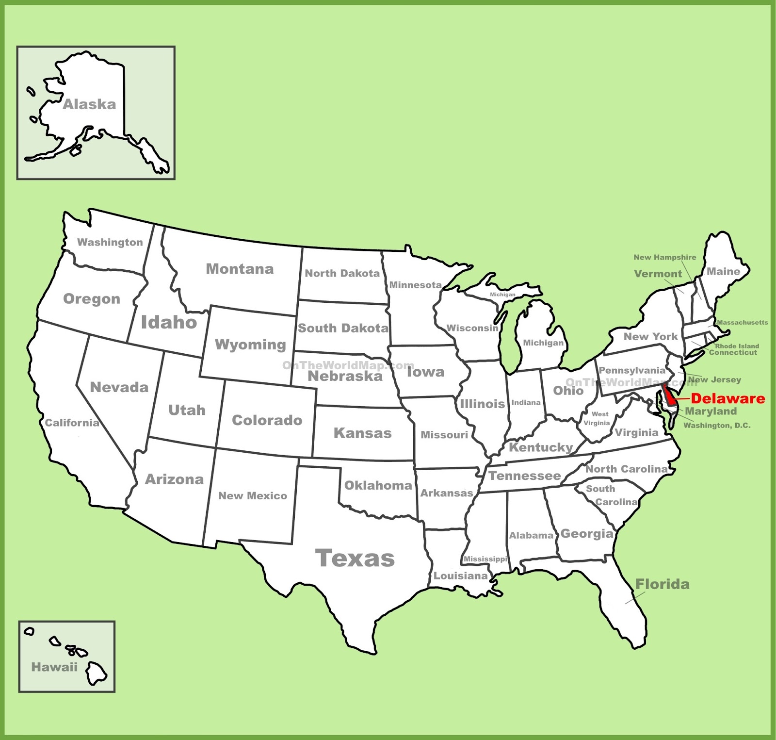 Delaware Map Of Us Map of Delaware | State map of USA