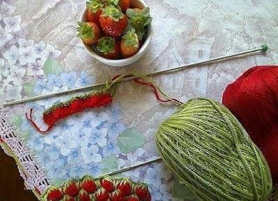 Como hacer Punto Fresas de Crochet Tutorial