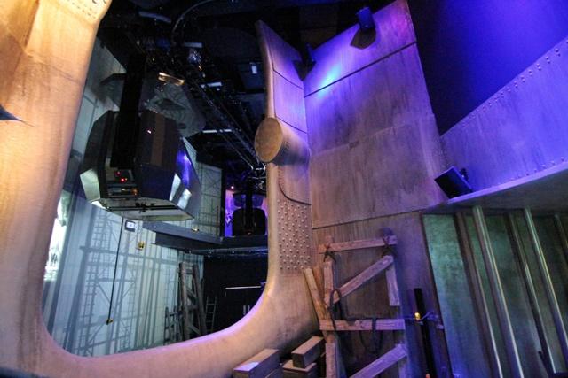 Atracción de Astilleros en el Museo del Titanic