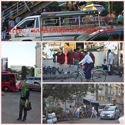 yangon, myanmar, pengangkutan, murah