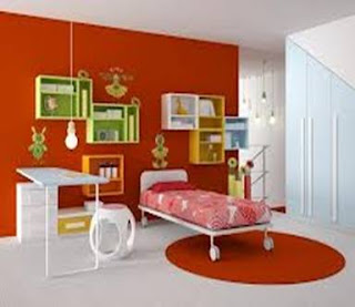habitación naranja niño