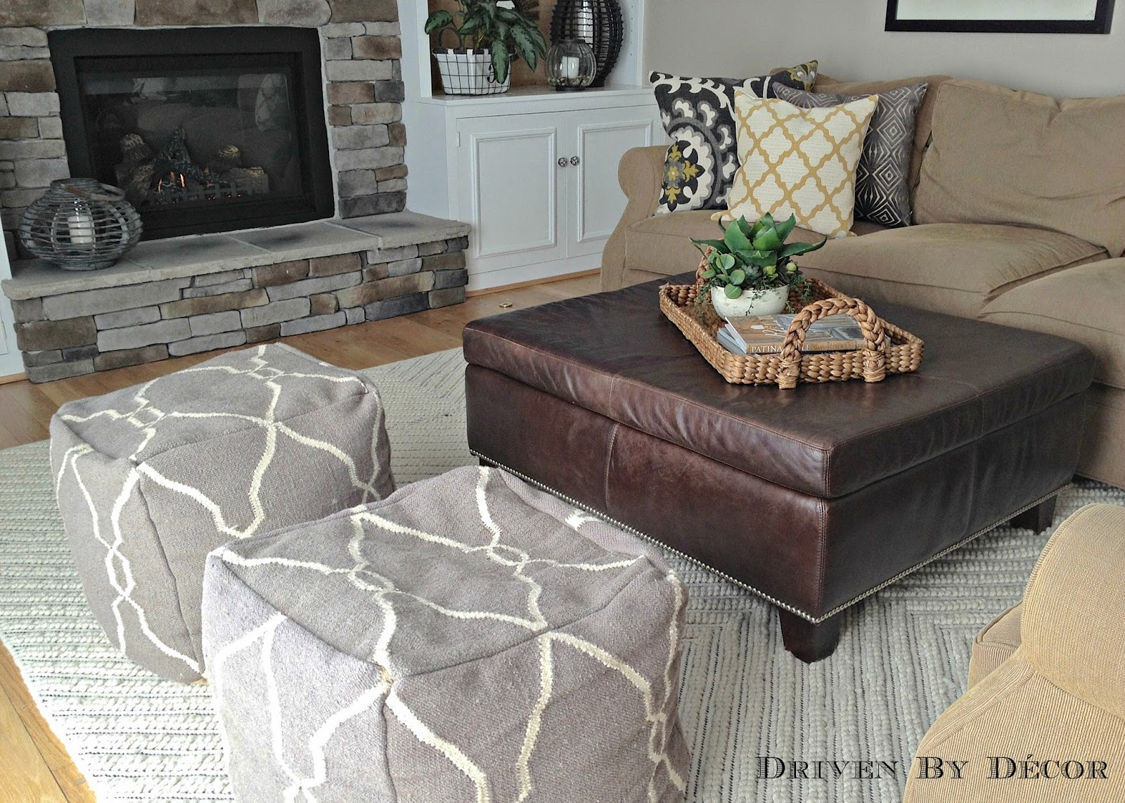 living room pouf house tour family room driven by decor 10381