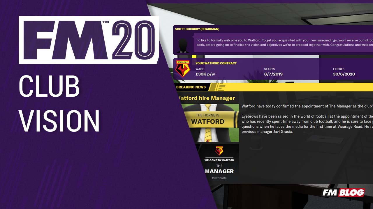 FM20 New Features - Club Vision