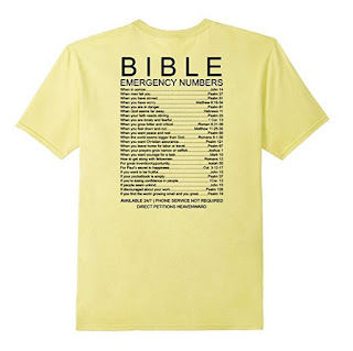 bible emergency numbers shirt