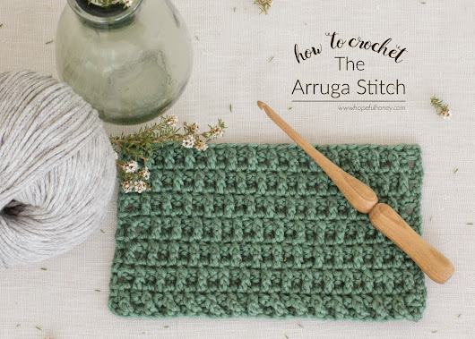 How To: Crochet The Arruga Stitch - Easy Tutorial