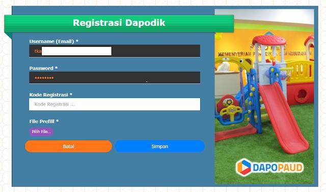 Geveducation:  Cara Registrasi Dapodik PAUD 2019 Semester Genap 2018/2019