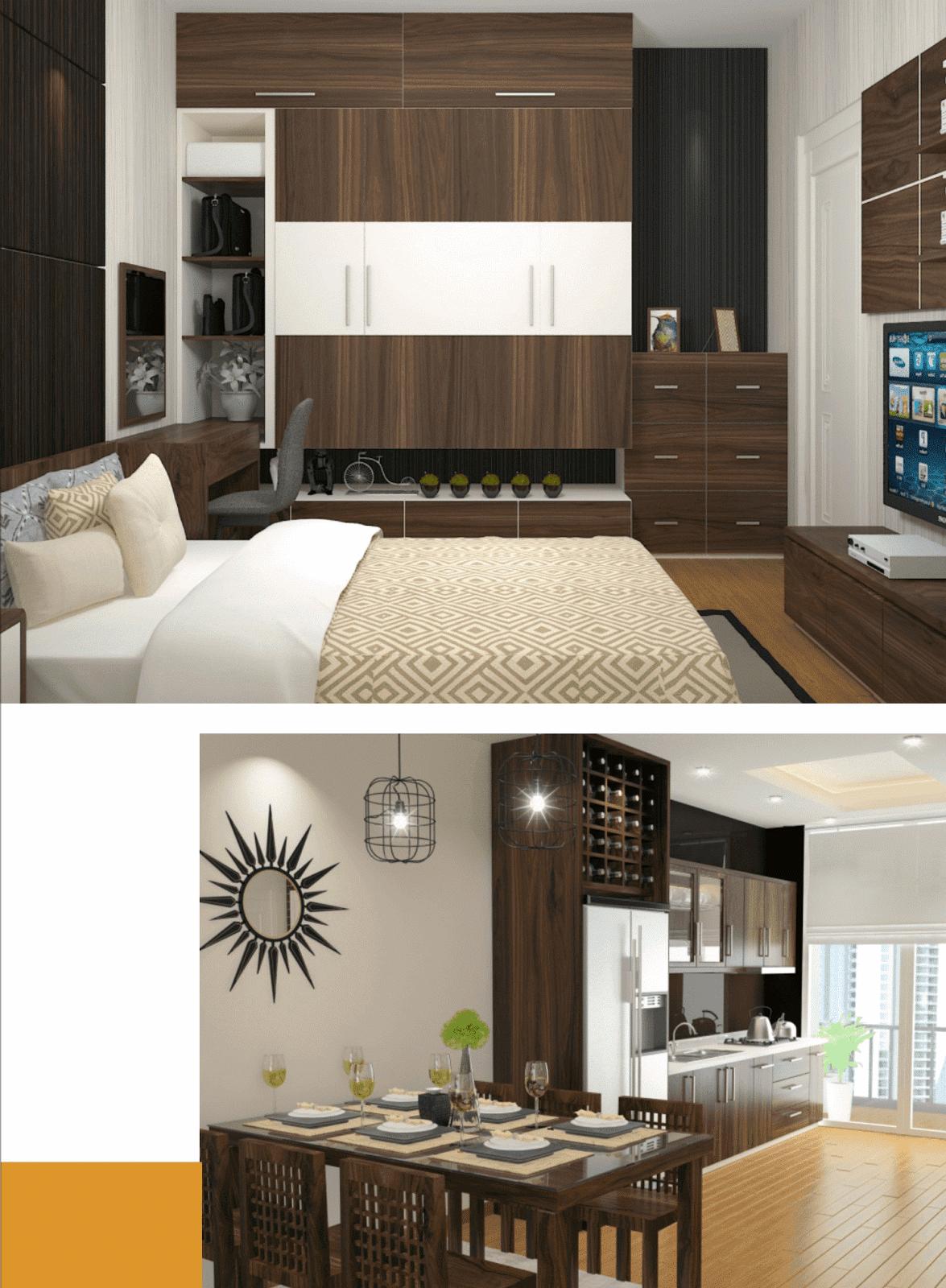 Hệ thống nội thất cao cấp tại dự án chung cư Gelexia Riverside