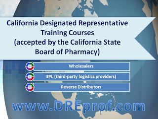 California Designated Representative Training Courses - accepted by the California State Board of Pharmacy