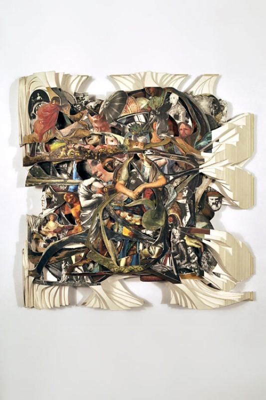 Скульптуры из книг. Brian Dettmer 14