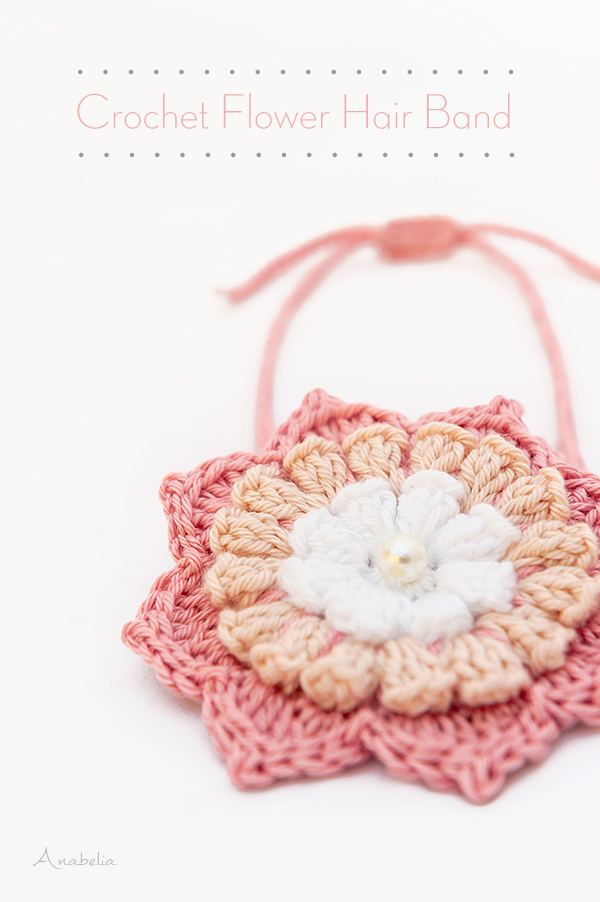 Crochet Flower Hair Band by Anabelia Craft Design
