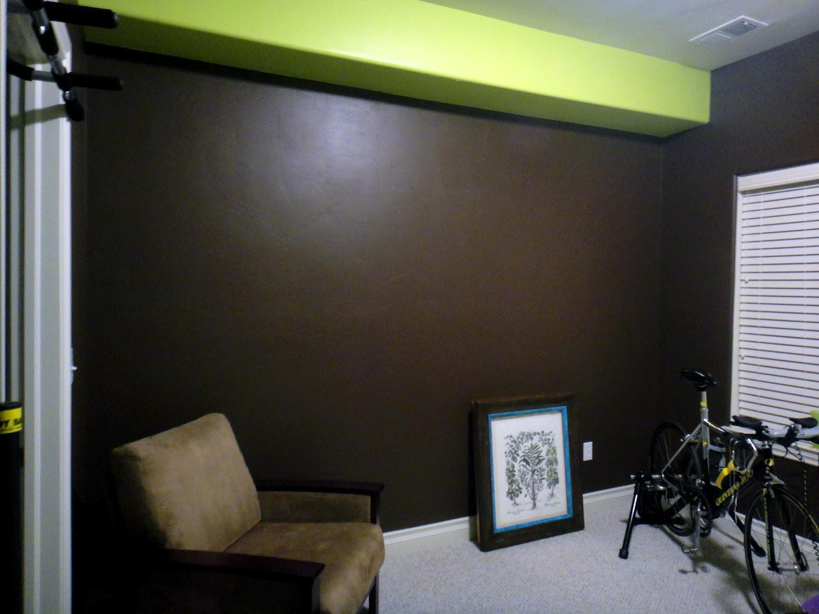 Worth Pinning: Playroom Wall- Adding the Vinyl Trees