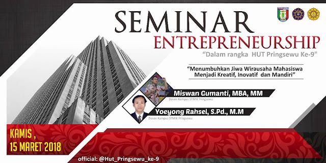 Design Banner Seminar Entrepreneurship STMIK Pringsewu