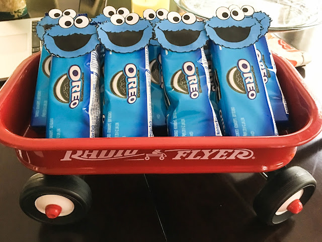 Elmo Birthday Party - Cookie Monster Oreo Favors