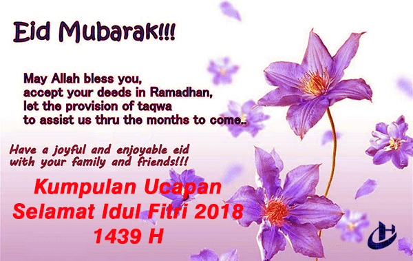Ucapan Selamat Idul Fitri 2018
