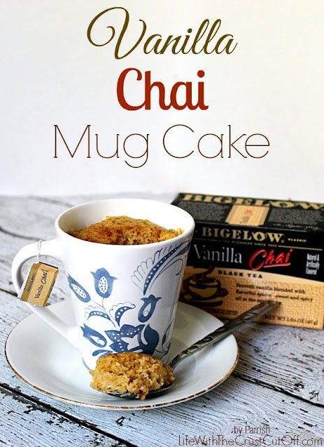 Vanilla Chai Mug Cake-Perfect mug cake for Thanksgiving
