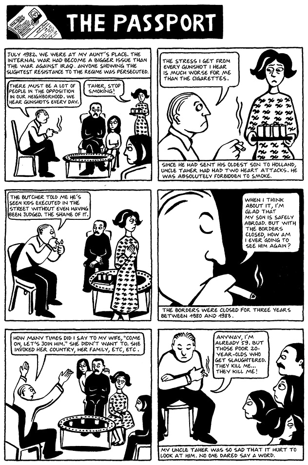 Read Chapter 16 - The Passport, page 116, from Marjane Satrapi's Persepolis 1 - The Story of a Childhood