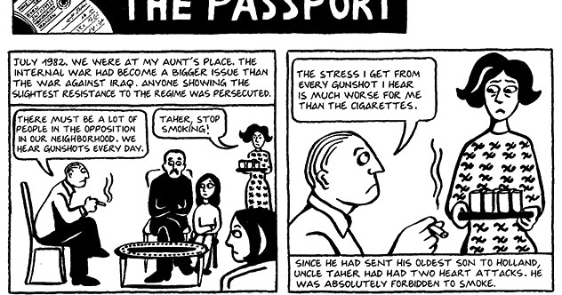 Read Persepolis 1 Section 16 The Passport Page 116