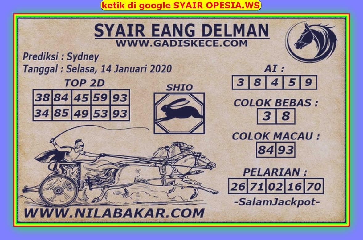 Kode syair Sydney Selasa 14 Januari 2020 108