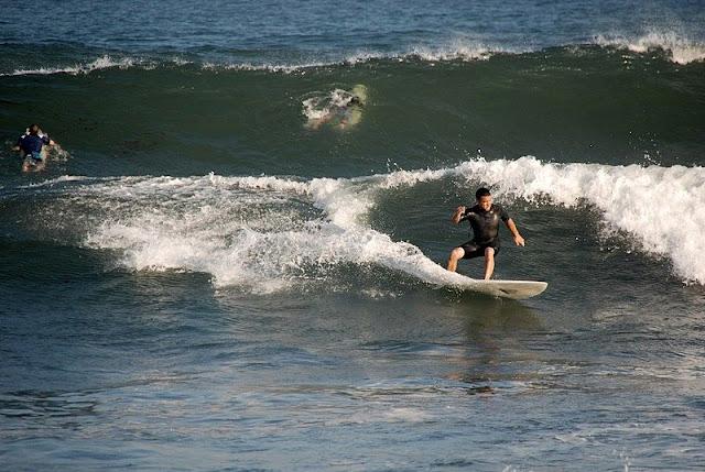 surfing at Newport Beach California