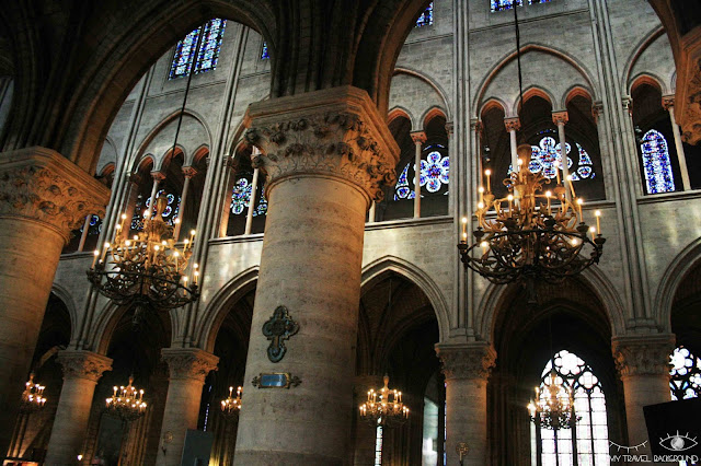 My Travel Background : #ParisPromenade : l'île de la Cité, a l'intérieur de Notre-Dame de Paris
