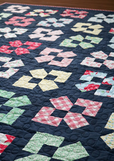 Lucky Duck quilt pattern - a Layer Cake or Fat Quarter quilt by Andy of A Bright Corner