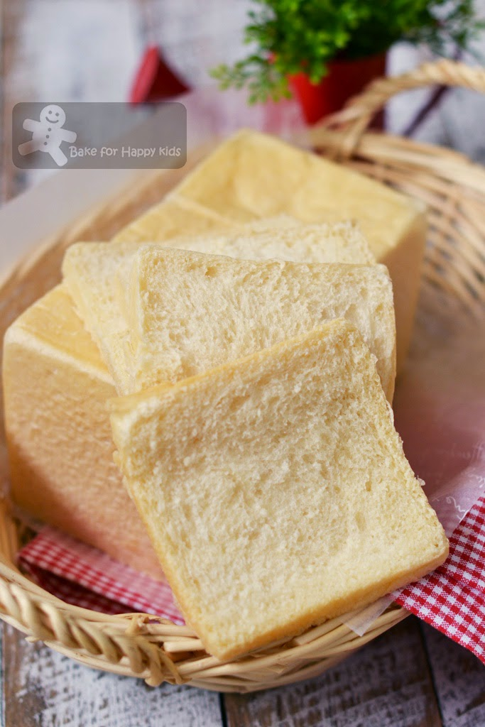 super soft fluffy white crust Japanese square bread