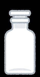 空の試薬瓶のイラスト1