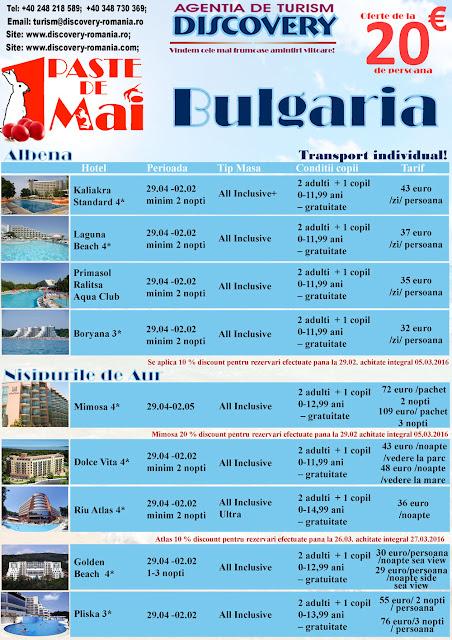 Oferta pentru Paste Bulgaria - Discovery Pitesti