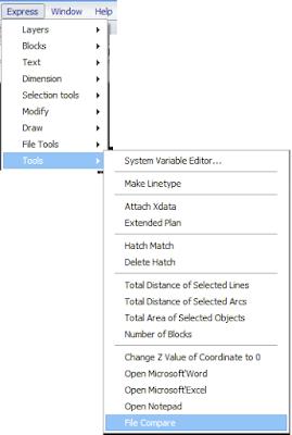 Menu File Compare di ZWCAD tidak ada di AutoCAD
